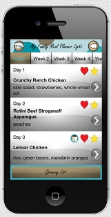 My Family Meal Planner Light iPhone App